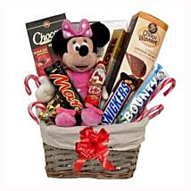 Christmas With Minnie Mouse Gift Basket: Send Gifts to Netherlands