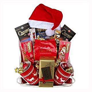 Santa Christmas Tea Basket: Send Gifts to Netherlands