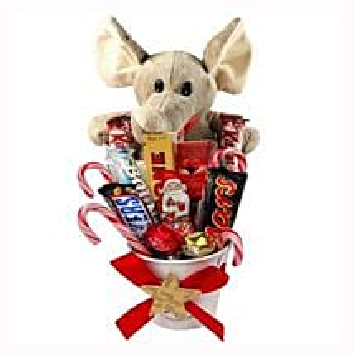 Sweet Elephant Christmas Bucket: Send Gifts to Netherlands