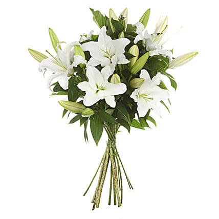 Exotic White Lilies Bouquet