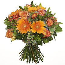 Bright Citrus Bouquet: Congratulations Flowers to New Zealand