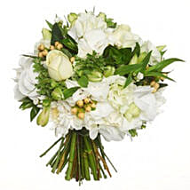 Fresh White Posy: Flower Delivery Wellington