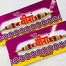 Judvaa rakhi: Set of 2 Rakhi to New Zealand