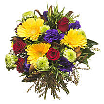 Mixed Colourful Bouquet: Send Gifts to Hamilton