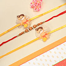 One Brother With Two Kids Rakhi Set: Rakhi for Kids to New Zealand
