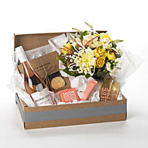 Pamper Her Gift Hamper: Congratulations Flowers to New Zealand