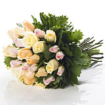 Pastel Rose Bouquet: Send Flowers to New Zealand