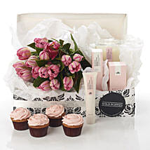 Pink Blush Hamper: Flower Delivery Wellington
