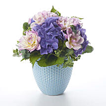 Placid Posy In Tiffany Vase: Send Gifts to Hamilton