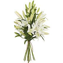 Pristine White Lilies: Flowers to Wellington