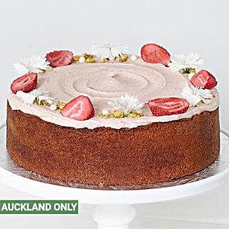 Vanilla Strawberry Cake: Send Birthday Cakes to New Zealand