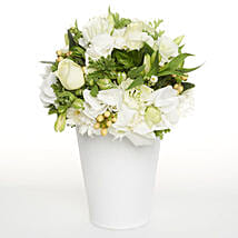 White Delightful Posy: Funeral Flowers to New Zealand