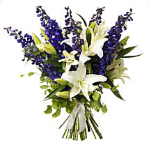 White N Blue Bouquet: Flower Delivery Wellington