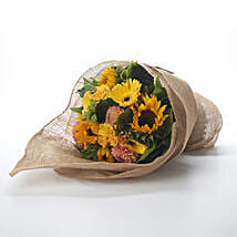 Yellow Flowers Bouquet: Send Gifts to Hamilton