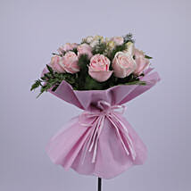 Elegant Bouquet Of Light Pink Roses: New Year Gifts to Oman