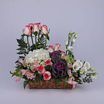 Stylish Basket Of Flowers: Send Mother's Day Gifts to Oman