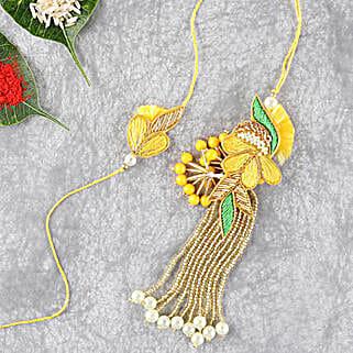 Bright And Beautiful Lumba Rakhi Set: Send Rakhi to Philippines