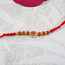 Aum Rudraksha Diamond Rakhi: Rakhi Delivery in Poland