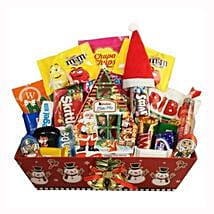 Christmas Retro Sweet Gift Basket: Send Gifts to Poland