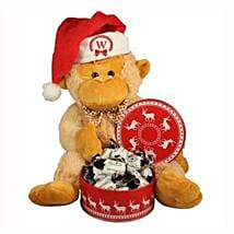 Christmas Treats with Monkey Plush Toy: Send Gifts to Poland