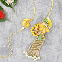 Bright And Beautiful Lumba Rakhi Set: Rakhi for Brother to Qatar