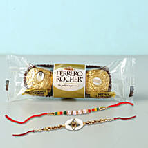 Set of 2 Fancy Rakhis With Rochers: Set of 2 Rakhi Delivery in Qatar