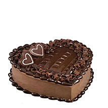 Tempting Heart Shaped Chocolate Cake: Send Cakes to Mesaieed