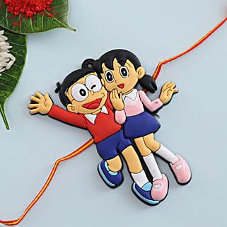 Nobita Shizuka Kids Rakhi: Rakhi Delivery in Romania