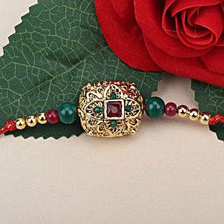 Traditional Antique Rakhi RUS: Send Rakhi to Russia