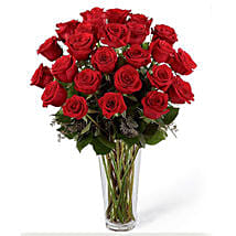 24 Red Roses Arrangement: Valentine Gifts to Saudi Arabia