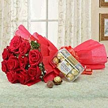 Combo For Love: Valentines Day Flowers to Saudi Arabia