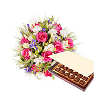 Princess Pink with Chocolates: Gift Delivery in Riyadh