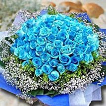 99 Blue Roses: Valentine's Day Flower Delivery in Singapore