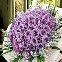 99 Purple Roses: Anniversary Flowers to Singapore