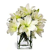 Casablanca Lilies in Vase: Miss You Flowers to Singapore