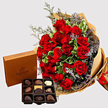 Red Roses and Godiva Chocolate Box: Flowers N Chocolates to Singapore