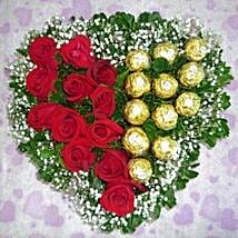 Roses with Ferrero: Anniversary Flowers to Singapore