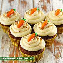 Carrot and Pecan Nut Cupcakes: Birthday Cake Delivery in South Africa