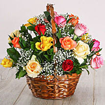 Country Mixed Rose Display: Birthday Gifts to South Africa