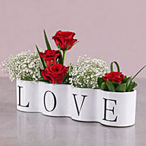 Love Red Rose Arrangement: Romantic Gifts to South Africa
