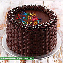 Simple Chocolate Birthday Cake: Birthday Gift Delivery in South Africa
