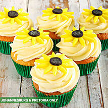 Sunflower Cupcakes: New Year Cake Delivery in South Africa