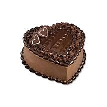 Chocolate Heart Cake: Send Gifts to Thailand