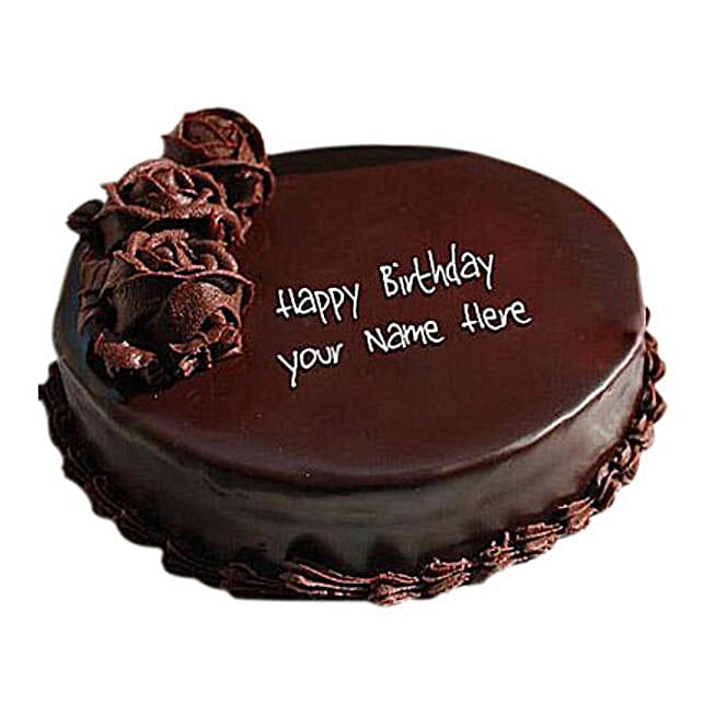 1 Kg Floral Design Chocolate Cake in uae Gift 1 Kg Floral Design