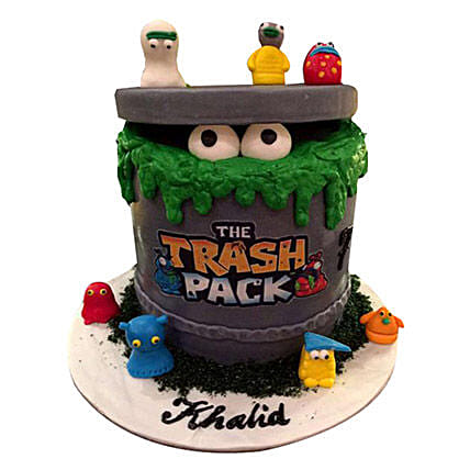 Trash Pack Cartoon Cake