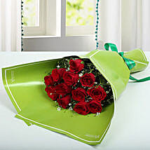 1 Dozen Red Roses Happy Bunch: Birthday Bouquets for UAE