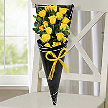 18 Yellow Roses Bunch: Valentine's Day Flower Bouquets UAE