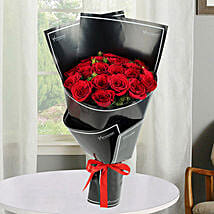 2 Dozen Red Roses Bunch: Birthday Bouquets for UAE
