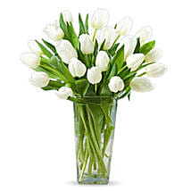 20 White Tulips: Same Day Condolence Flowers in UAE