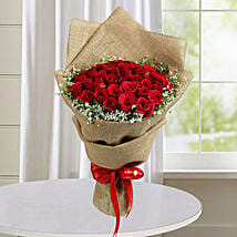 50 Red Roses Bunch: Birthday Bouquets for UAE